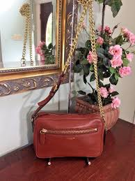 Coach Legacy Flight Bag Brown Cognac Leather Chain Crossbody 25362 B03