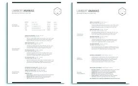 Two Page Resume One Or Two Page Resume Mmventures Co