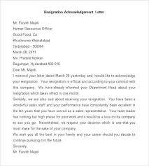 Resume Builder Online Interesting Nice Resignation Letters Sample Acknowledgement Letter Resume