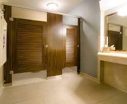 commercial bathroom door. Ironwood Manufacturing Laminate Toilet Partition With Louvered Bathroom Doors. Beautiful And Traditional Public Restroom Stalls Commercial Door