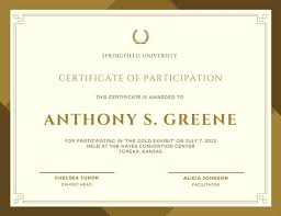 Samples Of Certificates Of Participation Customize 119 Participation Certificate Templates Online Canva
