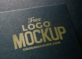 Free Logo Mockup Free Linen Embossed Photorealistic Logo Mockup Psd Good