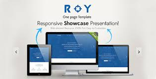 One Page Website Template Inspiration Roy One Page HTML Template By Graphtheme ThemeForest