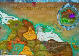 valve s map of the dota 2 world dota2