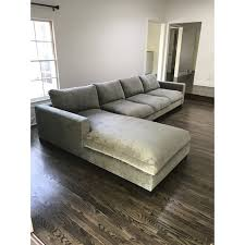 gray velvet sectional. Contemporary Sectional Custom Made L Shaped Sectional That Has Brand New Beautiful Grey  Upholstery Sofa Looks Inside Gray Velvet Sectional L