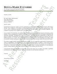 Gallery Of Elementary Teacher Cover Letter Educator Cover Letter