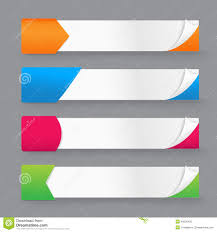 Colored Corners Paper Banner Vector L
