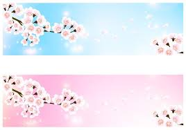 free banner backgrounds cherry blossom banner background pack free photoshop brushes at