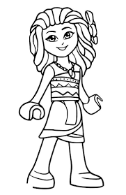 Simple Moana Coloring Pages Lego Disney Princess Coloring Page 4 Kids