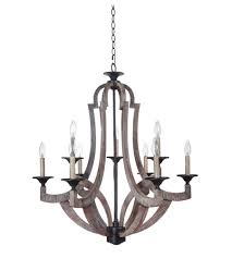 craftmade 35129 wp winton 9 light 30 inch weathered pine and bronze chandelier ceiling light