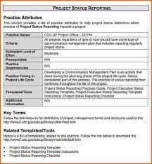 How To Write A Weekly Report Template Project Status Report Sample Progress Report Template
