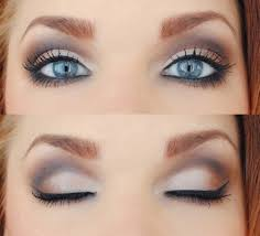for any eye color when applying eye shadow using a light pink or white color directly under your eyebrow makes all eye shadow have a smooth finish