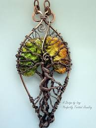 reserved wire wrapped tree of life pendant necklace