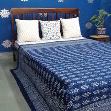 indigo booti 8207 indian block printed 100 percent cotton bedspread