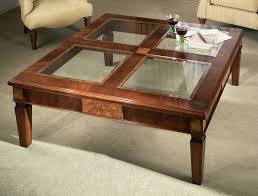 square glass top coffee table lift