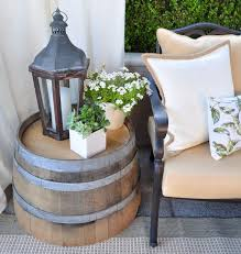 diy wine barrel side table 36 creative diy ideas to upcycle old wine barrels diy wine barrel