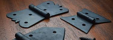 The resulting color is a natural, dark tone that shows off the genuine hand work beautifully. Butterfly Hinges Dovetail Hinges Hand Forged Hinges Black Iron Hinges Horton Brasses Inc