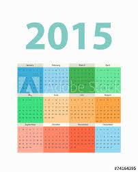 Simple Calendar Template 2015 Simple European 2015 Year Vector Calendar Template Buy