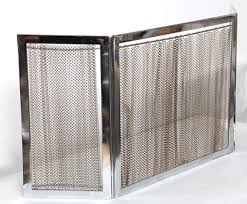 chrome and metal fireplace screen 3