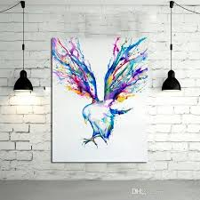 2018 abstract wall art handpainted oil painting beautiful flying within abstract bird wall art photo