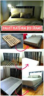 diy pallet platform bed frame step by step wooden pallet ideas and projects