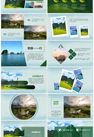 travel log templates awesome magazine style thailand travel log roadmap ppt template for