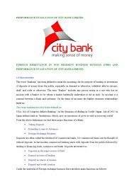 Nrb Bank Dps Chart Performance Evaluation Of City Bank Limited By Md Papon Issuu