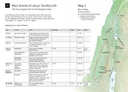 Jesus Life Timeline Chart Important Events In Jesus Life On Earth Chart And Map Nwt