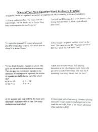 math worksheets solving one step equations fearsome and two ideas of worksheet word doc about seventh two step equations worksheets