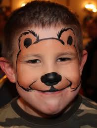 Easy Halloween Face Painting Designs Bear Face Painting Ideas Face Makeup Monkey For Kids