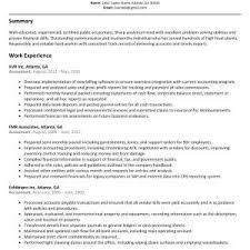 Sample Resume For Professional Accountant New Accounting Resume ...
