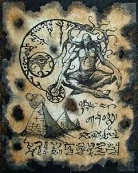 pnakotic sorcery cthulhu larp necronomicon fragment demon monster art