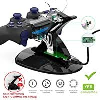 YCCTEAM <b>Dual USB Charging</b> Charger Docking Station Stand ...