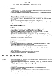 Clinical Services Manager Sample Resume Clinical Services Resume Samples Velvet Jobs 19