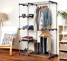 double rod closet hanger the laundry house double rod closet with 5 shelves double hanging rods