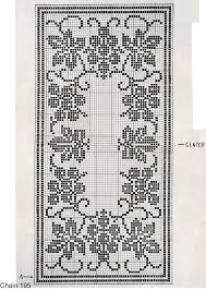 Crochet Pattern Charts Free Grapevine Runner 1938 Vintage Filet Crochet Pattern Free