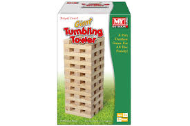 giant wooden tumbling tower by m y