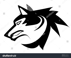 wolf face black and white.  Black Vector Illustration Of Wolf Face Black And White Tattoo Isolated On On Wolf Face Black And White I