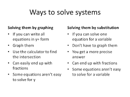 6 ways to solve systems solving them by graphing