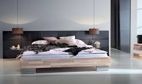 hasena woodline reca  opio m solid wood  real leather bed