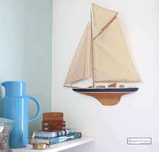 sailboat wall decor fresh half hull sailing boat wall mounted gaff rig the