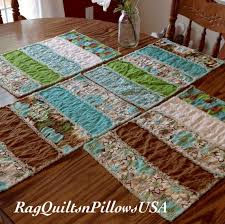 37 best Country Placemats and Table Runners images on Pinterest ... & Country Placemats Quilted Placemats Rag by RagQuiltsnPillowsUSA Adamdwight.com