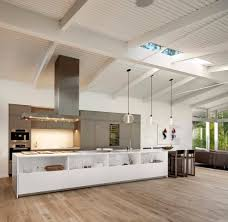 modern island lighting. Santa Barbara White Glass Kitchen Cabinets With Modern Island Range Hoods Contemporary And Pendant Lighting