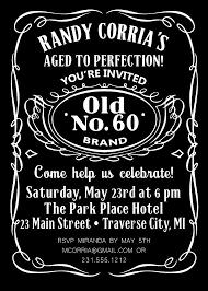For John Jack Daniels Birthday Invitations Adult By