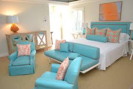 Orange Bedroom Decor Orange And Turquoise Bedroom