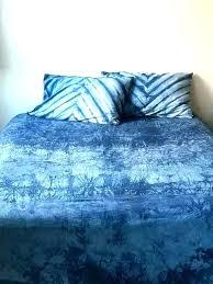 blue tie dye bedding duvet cover hand dyed sheet set bohemian indigo dorm and white sheets alternate view a color blue tie dye bedding