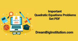 quadratic equation pdf with solution for bank exam
