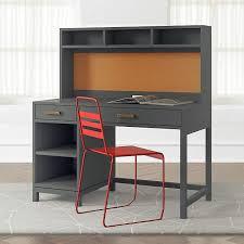 kids parke charcoal desk and hutch