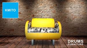drum furniture. 29 Kamito Camillo Torou0027s Designer Sofa Is Made From A Recycled Oil Drum There Storage Space Beneath The Seat Form Plus Functionality Furniture