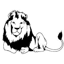 Disegno Di Leone Che Riposa Da Colorare Per Bambini